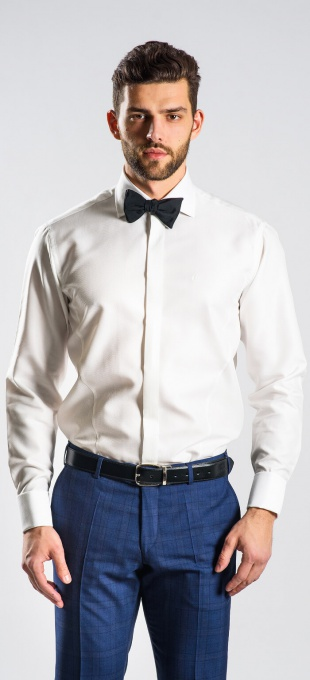 Smotanová Extra Slim Fit spoločenská košeľa