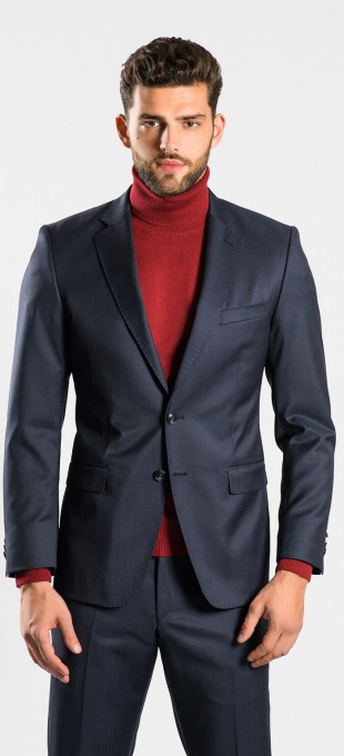 Anthracite wool suit