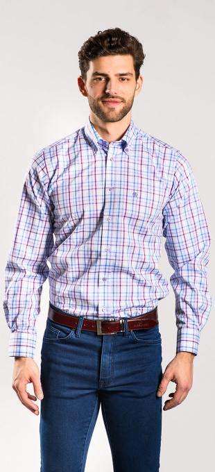 Casual checkered Slim Fit shirt - basic line