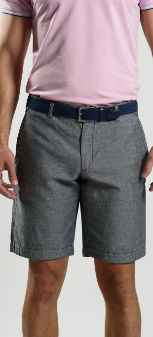 Grey linen shorts