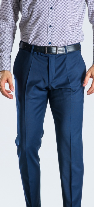 Blue suit trousers