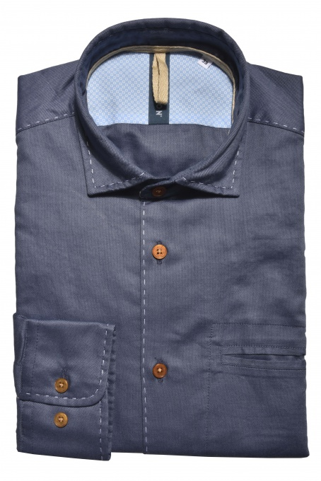 Dark blue Extra Slim Fit Oxford Shirt