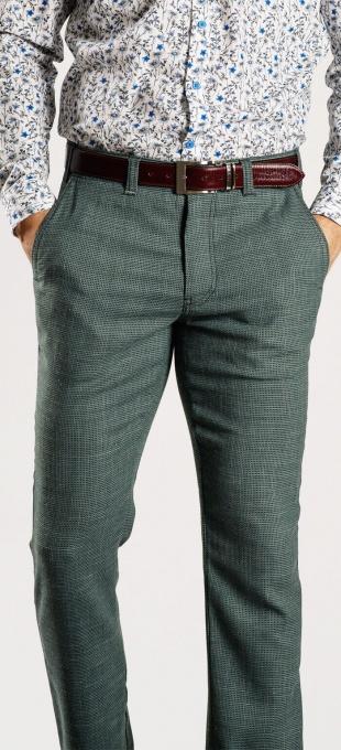 Zelené ľanové nohavice