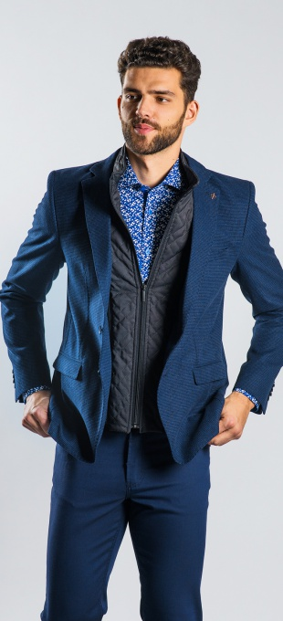 Dark blue wool blazer