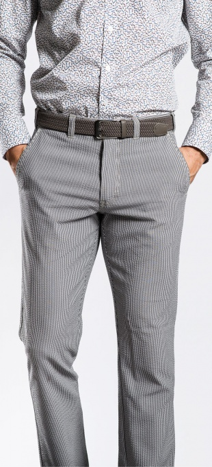 Grey pleated chinos