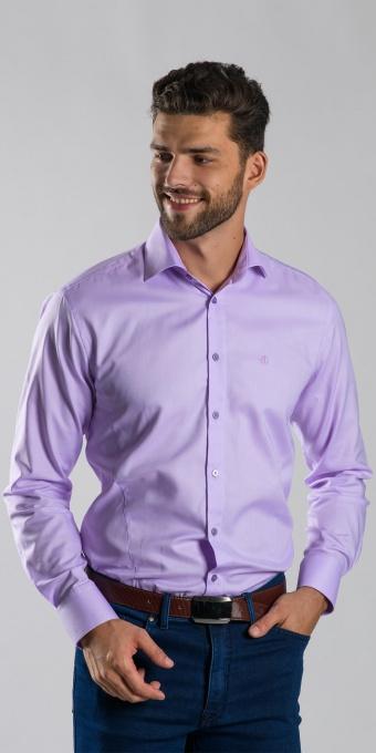 Fialová Extra Slim Fit business košeľa