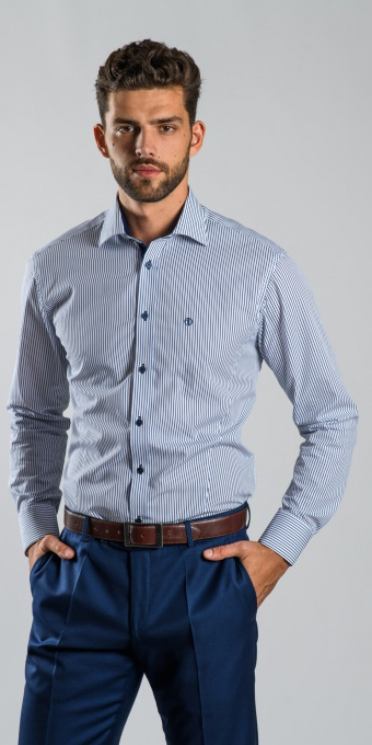 Blue checkered Extra Slim Fit shirt
