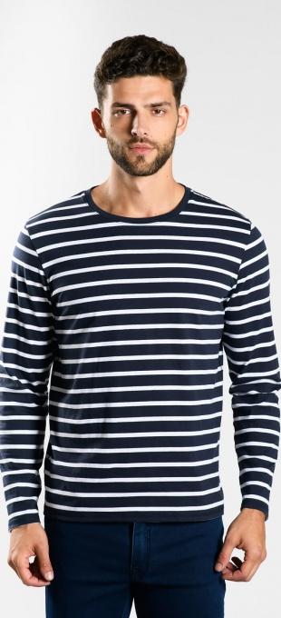 Prúžkované tričko s dlhým rukávom