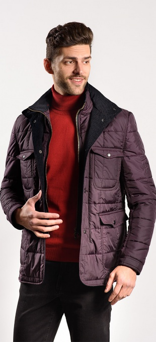 Burgundy padded jacket