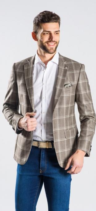 Wool checkered blazer