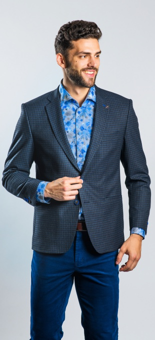 Dark blue patterned blazer