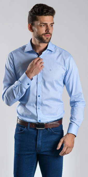 Blue Slim Fit business shirt