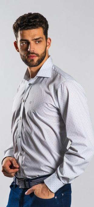 Grey Slim Fit business shirt