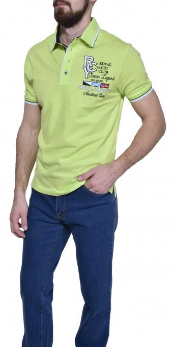 Green piqué polo shirt