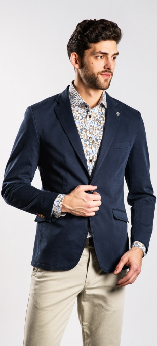 Dark blue cotton blazer