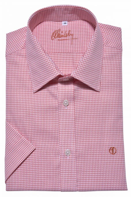 Red Extra Slim Fit short sleeved shirt