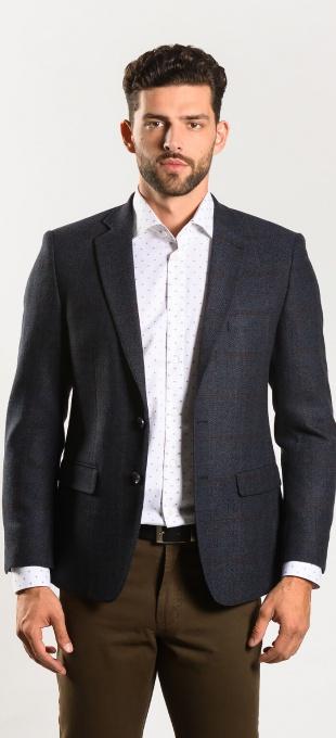 Tmavomodré vlnené sako