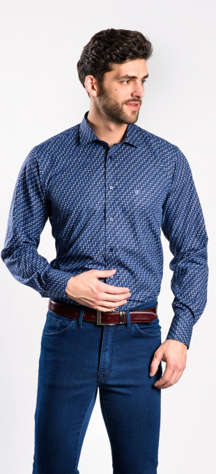 Bold casual Extra Slim Fit shirt - basic line
