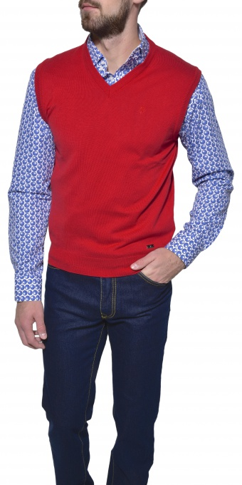Red cotton vest