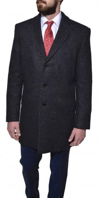 Modrý jesenný kabát