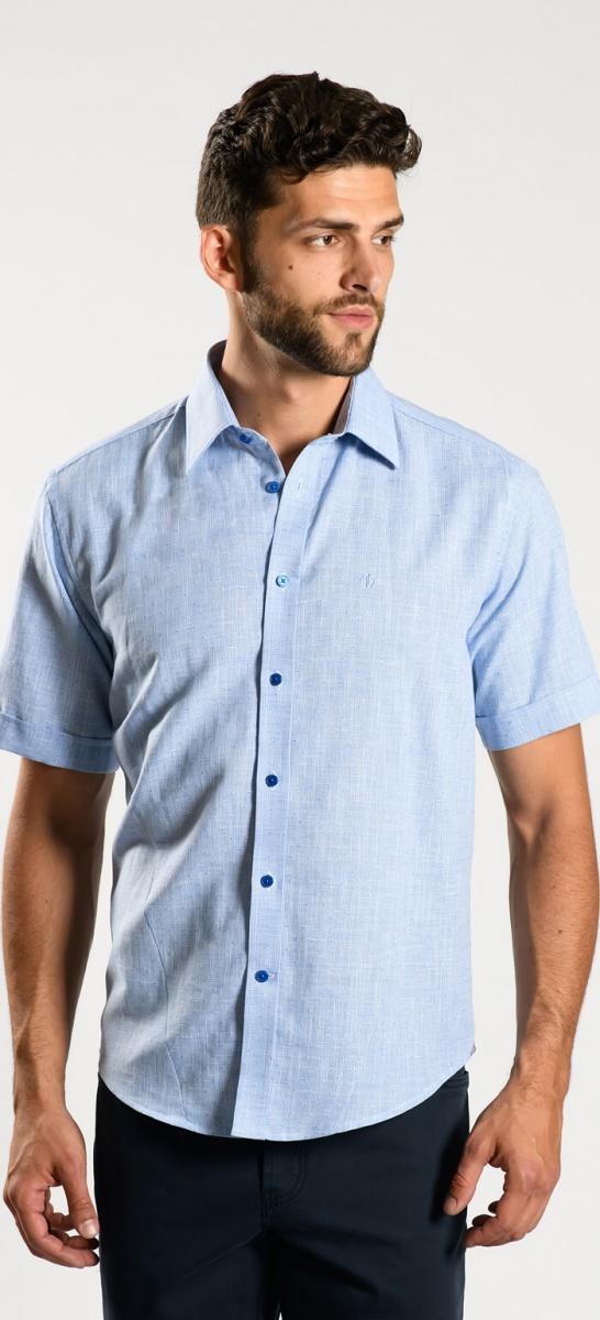 Bledomodrá Extra Slim Fit košeľa s krátkym rukávom
