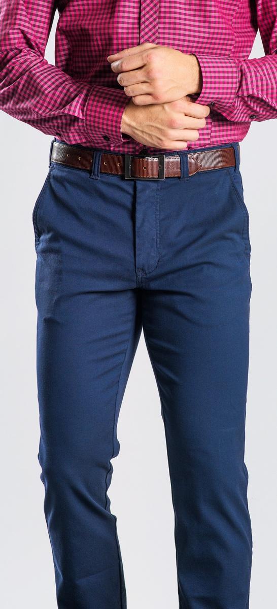 Modré voľnočasové chinos nohavice