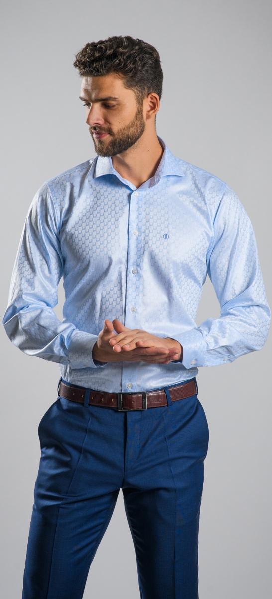 LIMITED EDITION modrá Classic Fit košeľa