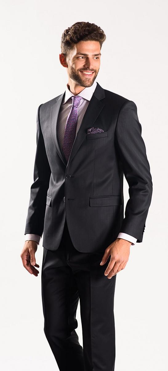 Oceľový Slim Fit oblek