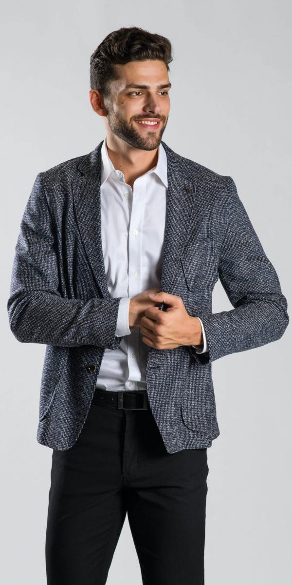 Grey structured blazer