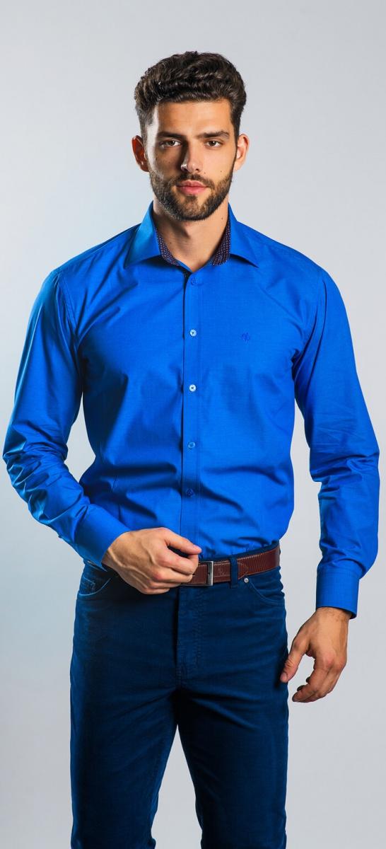 Tmavomodrá Extra Slim Fit košeľa