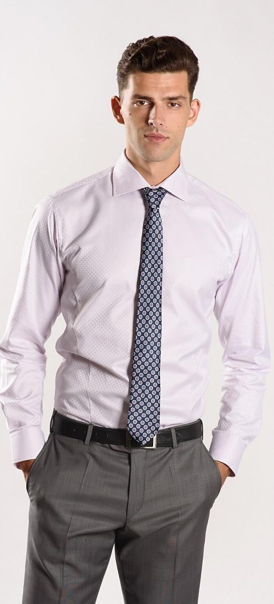 Ružová Extra Slim Fit košeľa