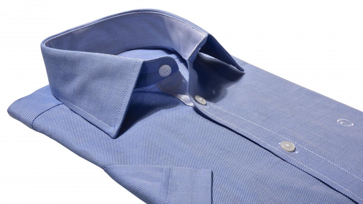Modrá Classic Fit košeľa s krátkym rukávom