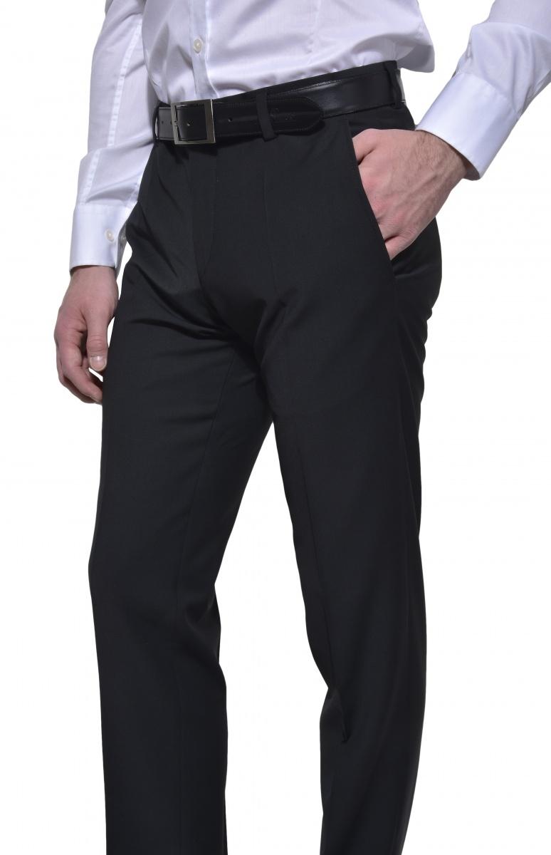 Čierne oblekové nohavice