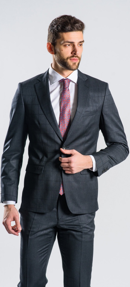 LIMITED EDITION dark grey wool suit