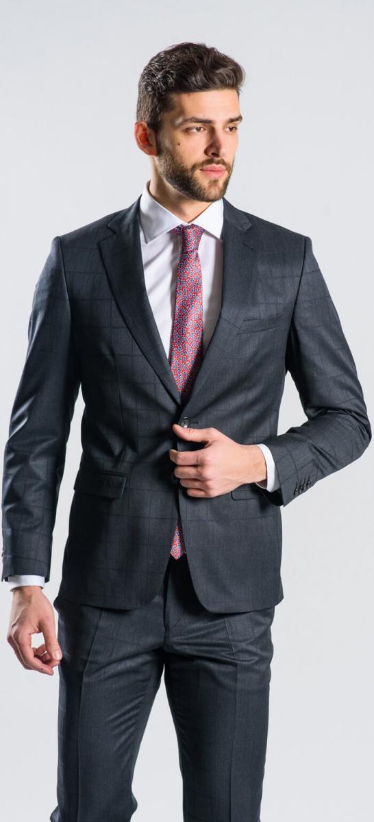 LIMITED EDITION Tmavošedý vlnený oblek
