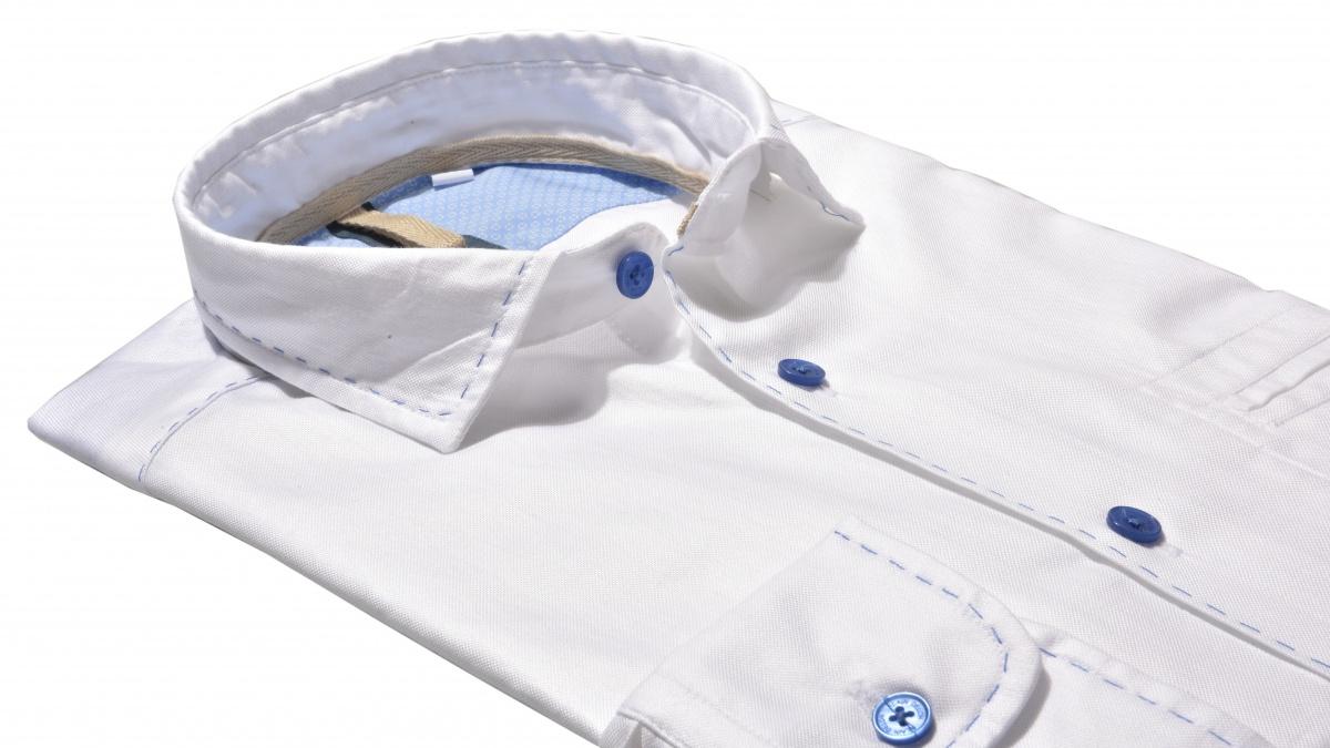 Biela Extra Slim Fit Oxfordská košeľa