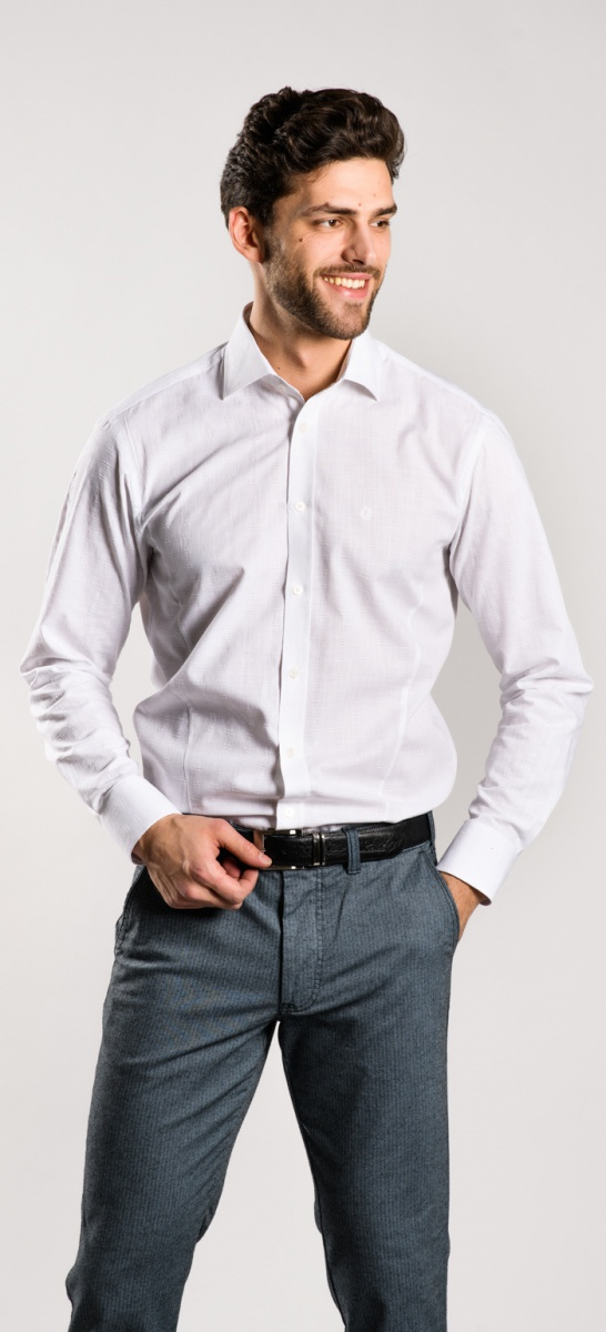 LIMITED EDITION white Slim Fit shirt