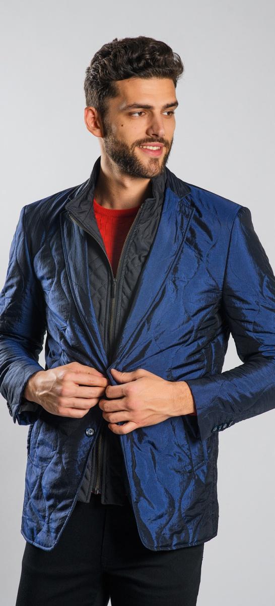 Dark blue padded blazer