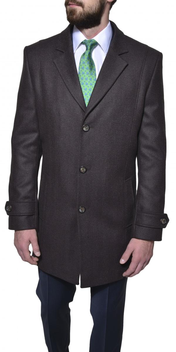 Hnedý flaušový kabát