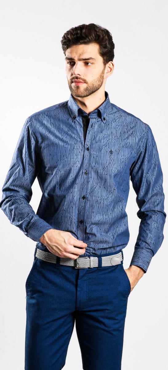 Tmavomodrá Extra Slim Fit košeľa rady Basic