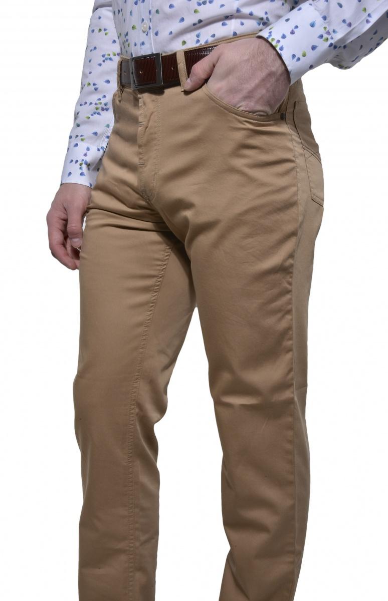 Bledohnedé voľnočasové nohavice