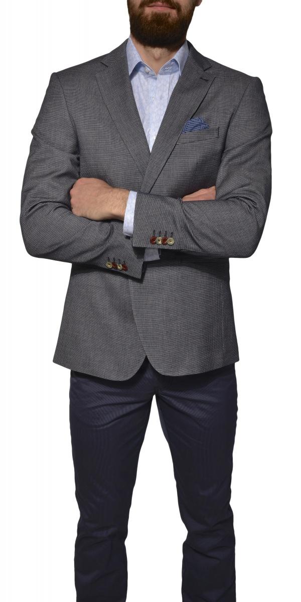 Sivé voľnočasové sako