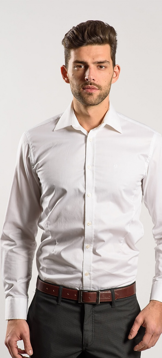 Biela extra slim košeľa