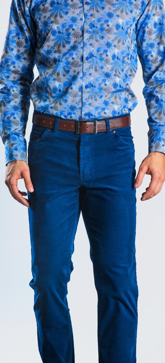 Blue basic five pocket trousers