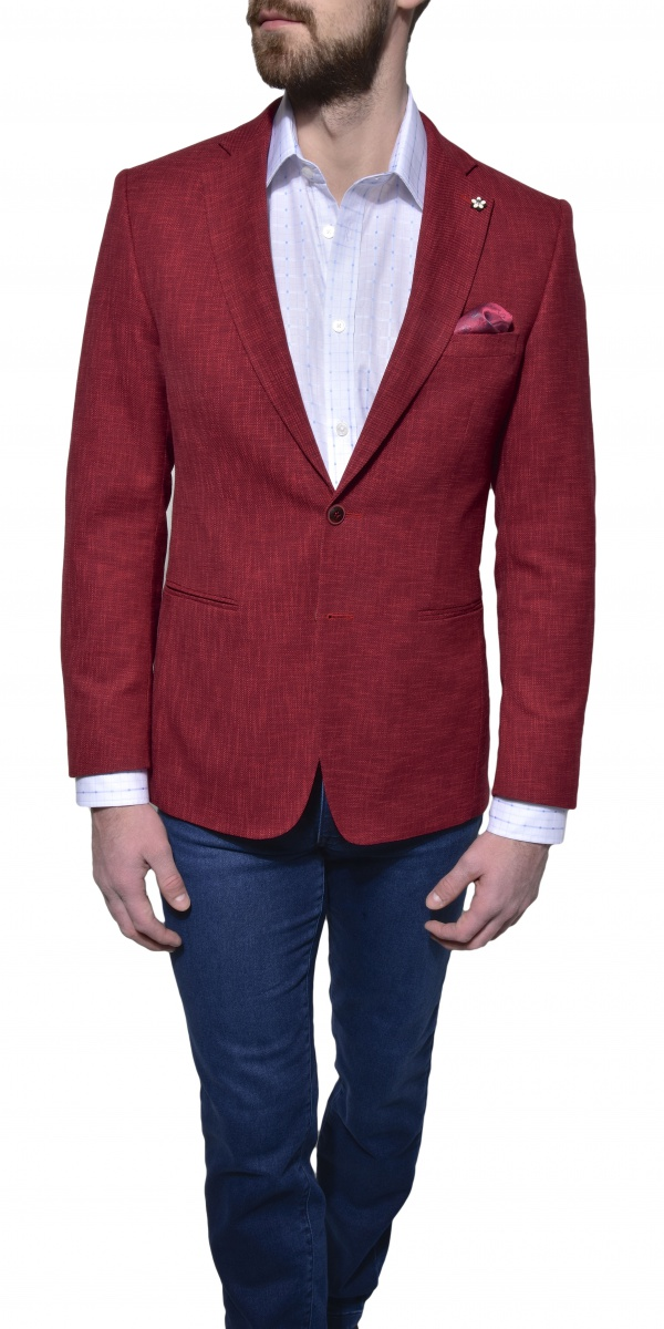 Červené jarné sako